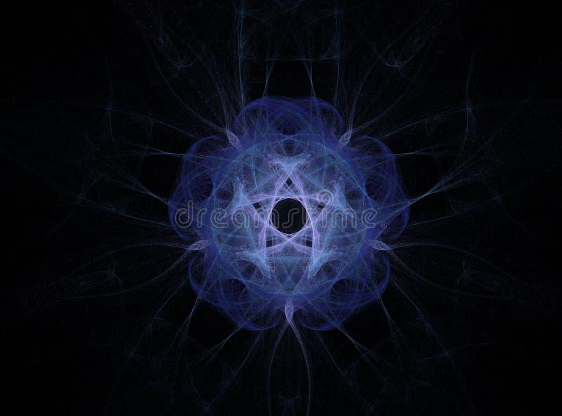 blomma att blänka för fractal royaltyfri illustrationer