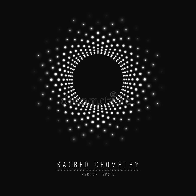 Blomma av livstid sakral geometri Symbolharmoni och jämvikt också vektor för coreldrawillustration royaltyfri illustrationer
