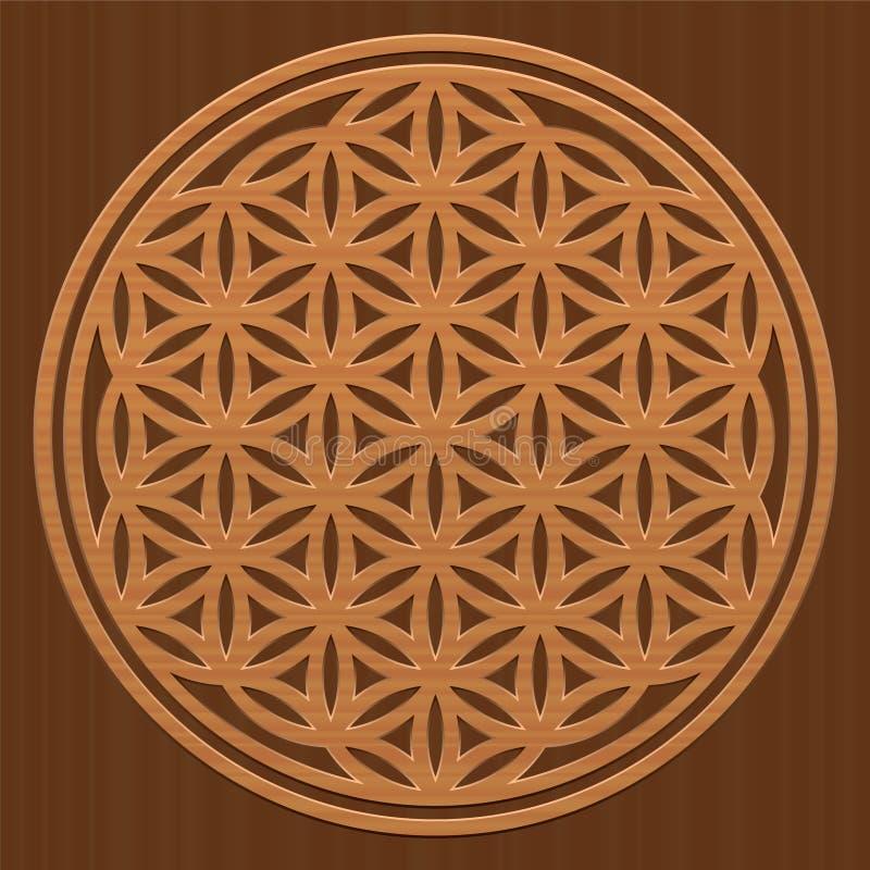 Blomma av snida för textur för liv Wood royaltyfri illustrationer