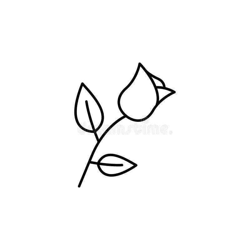 blomma dödöversiktssymbol detaljerad uppsättning av dödillustrationsymboler Kan anv?ndas f?r reng?ringsduken, logoen, den mobila  royaltyfri illustrationer