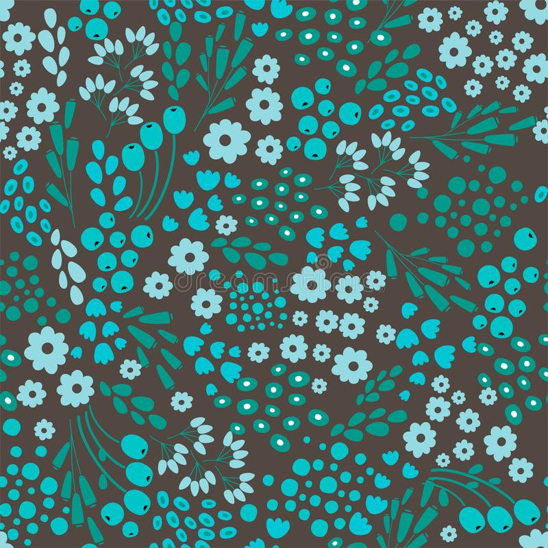 Blomma den abstrakta sömlösa modellen, textur, bakgrund för designeps för 10 bakgrund vektor för tech royaltyfri illustrationer