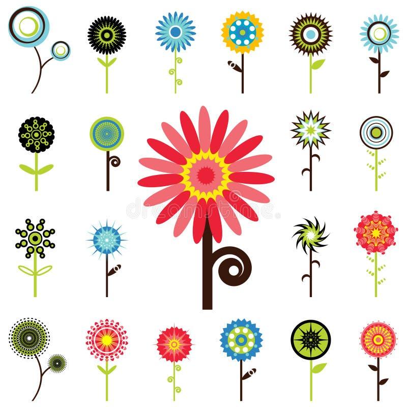 blomma diagram royaltyfri illustrationer