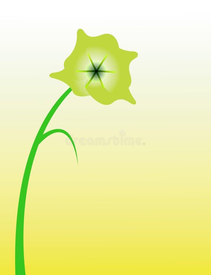 blomma ensamt royaltyfri illustrationer