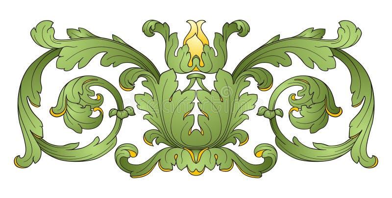 blomma för garneringdesignelement royaltyfri illustrationer