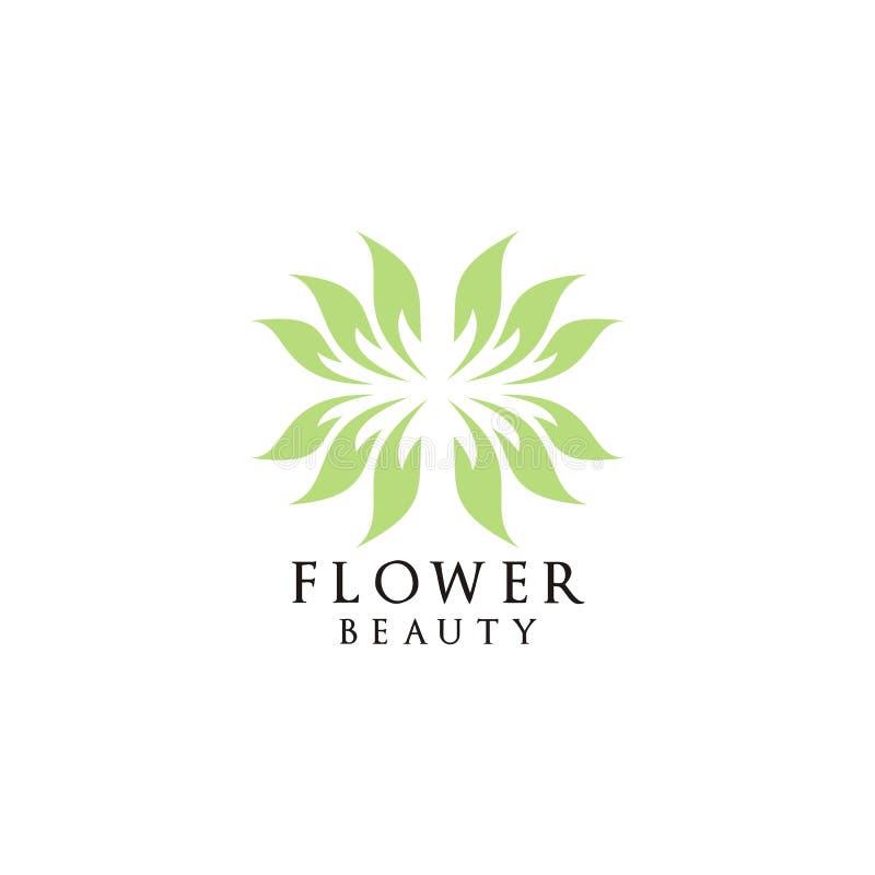 Blomma för kosmetisk logodesign för natur royaltyfri illustrationer