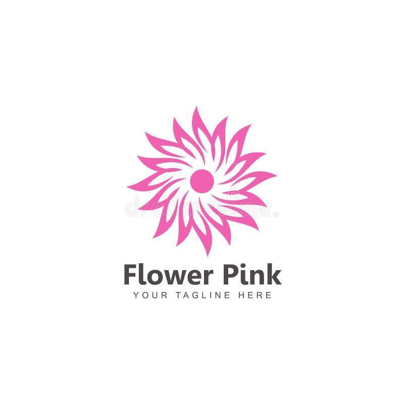 Blomma för kosmetisk logodesign för natur vektor illustrationer