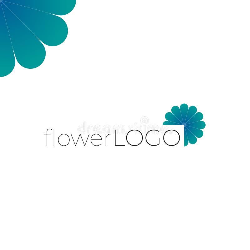 Blomma - företagslogo - trädgårds- arkitekturdesign vektor illustrationer