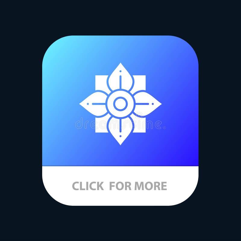 Blomma garnering, Kina, kinesisk mobil Appsymbolsdesign royaltyfri illustrationer