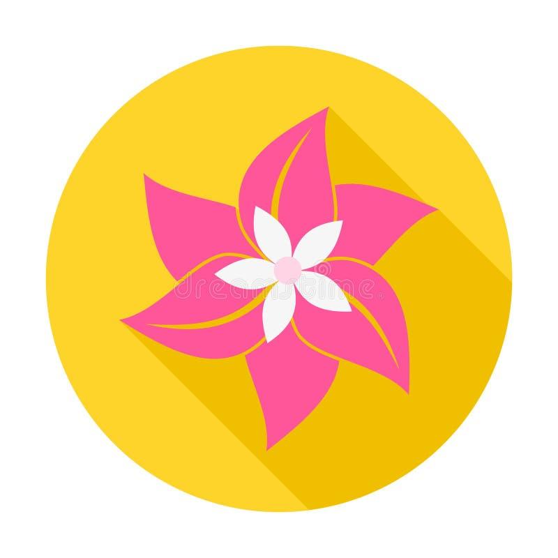 Blomma med lång skugga royaltyfri illustrationer