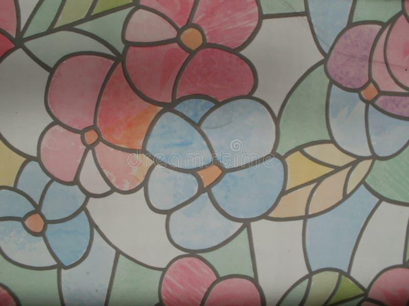 Blomma- och sidamosaik arkivbilder