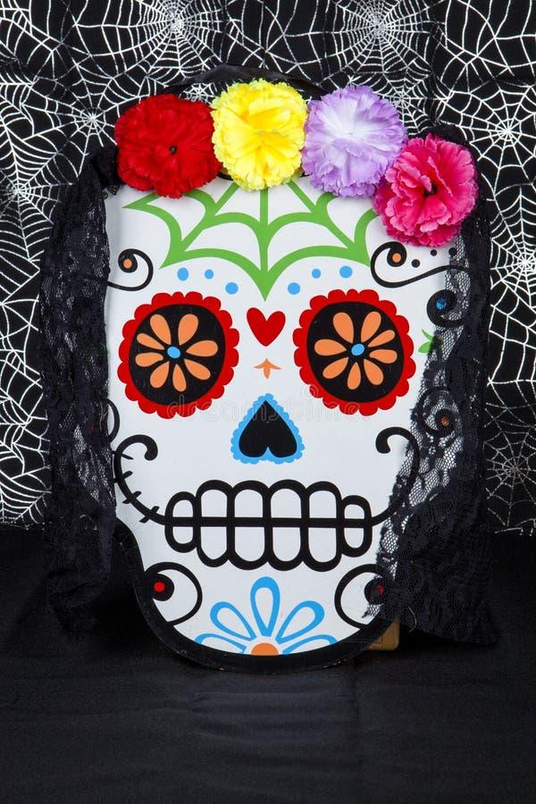 Blomma Sugar Skull royaltyfria bilder