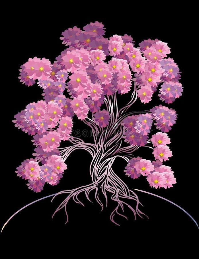 blomma tree royaltyfri illustrationer