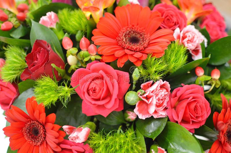 Blommabakgrund av nya blommor royaltyfri fotografi
