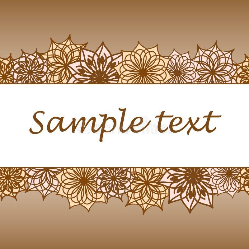 Blommabakgrund med utrymme av din text royaltyfri illustrationer