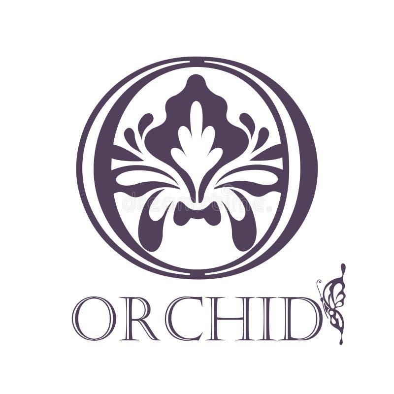 Blommabakgrundsmall Lotus Symbol logo vektor illustrationer