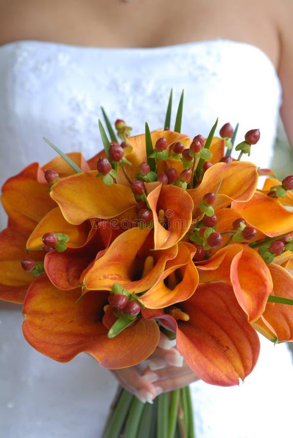 blommabröllop arkivfoto