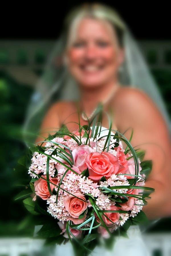 blommabröllop royaltyfri foto
