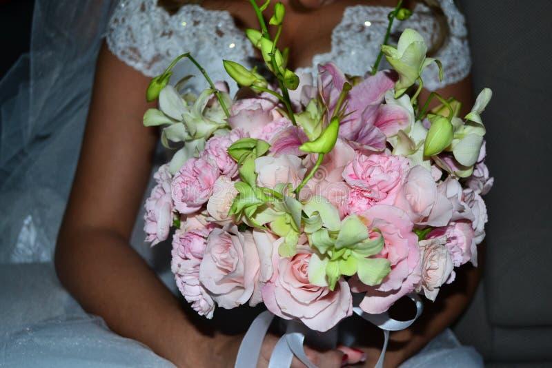 Blommabröllopbukett arkivbilder