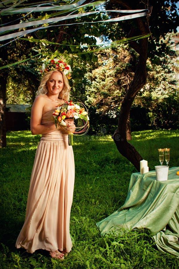 Blommabrud royaltyfria foton