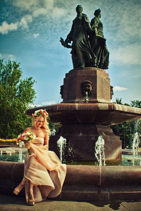 Blommabrud royaltyfri foto