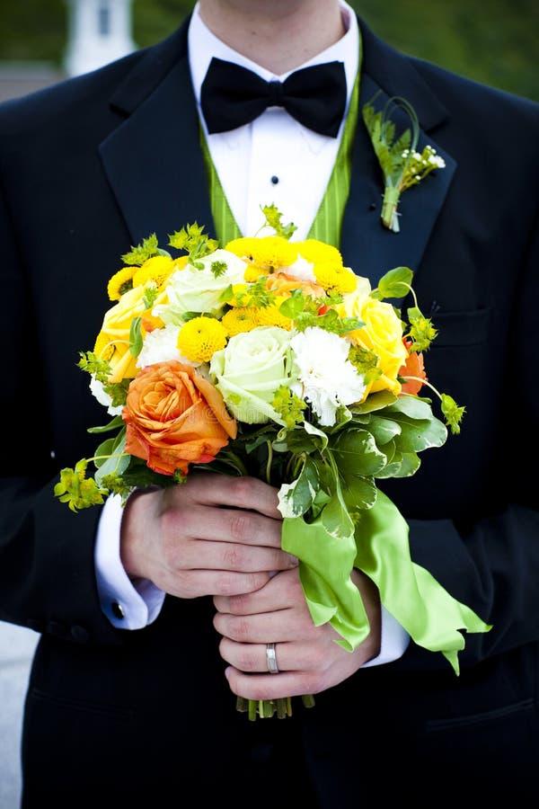 blommabrudgum royaltyfria bilder
