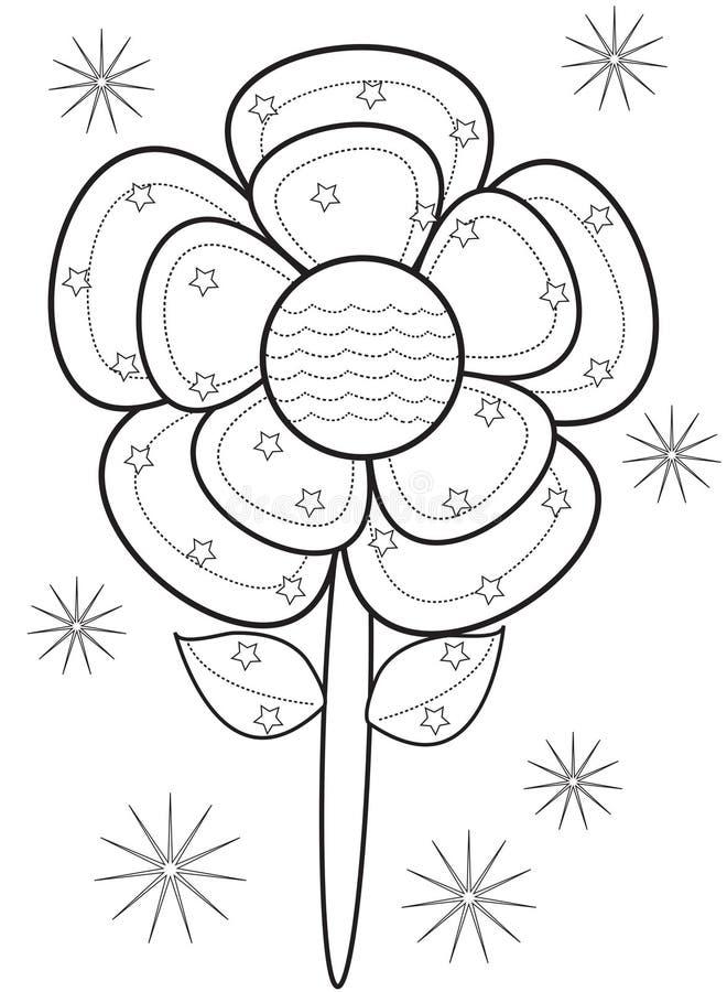 Blommafärgläggningsida royaltyfri illustrationer
