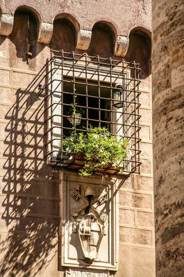 Blommafönster royaltyfria foton