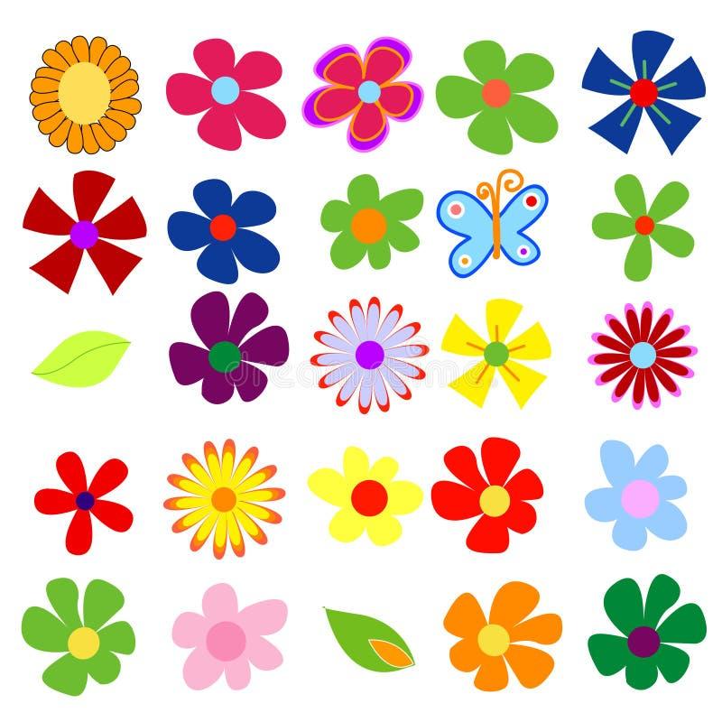 blommafjäder stock illustrationer