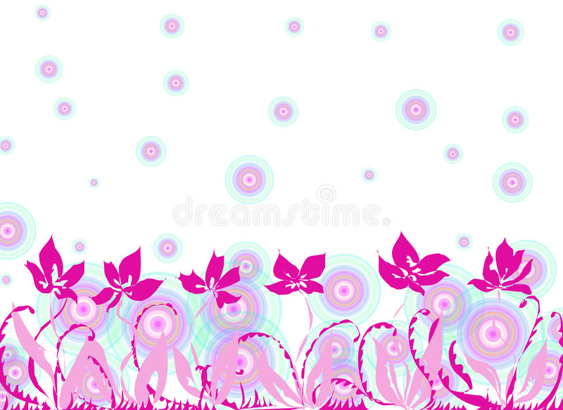blommafjäder royaltyfri illustrationer
