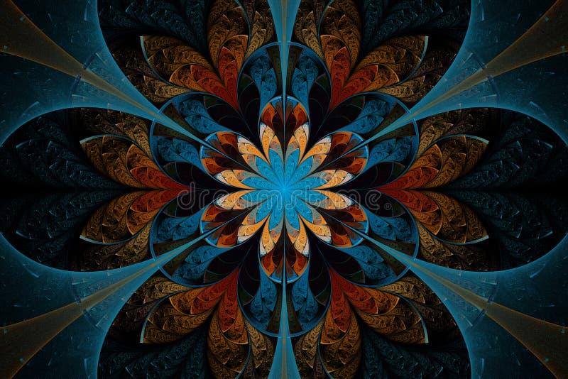 blommafractal vektor illustrationer