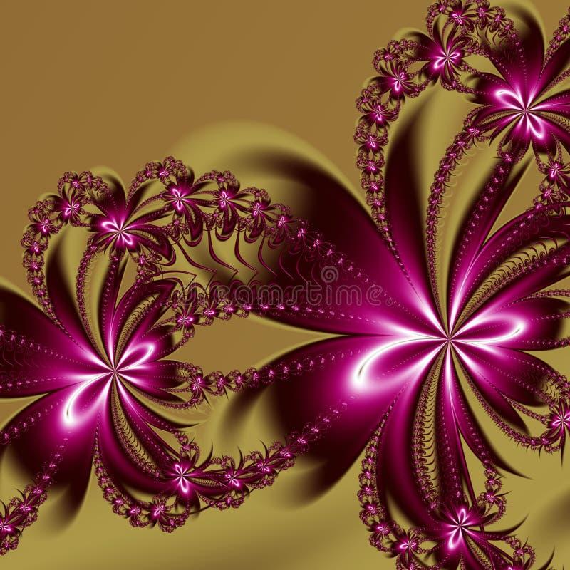 Blommafractalmodell Du kan använda det för inbjudningar, anteckningsbokräkningar, telefonfall, vykort, kort, keramik, mattor och  royaltyfri illustrationer