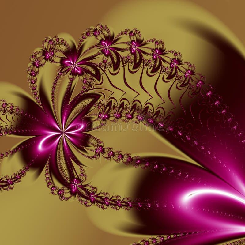 Blommafractalmodell Du kan anv?nda det f?r inbjudningar, anteckningsbokr?kningar, telefonfall, vykort, kort, keramik, mattor och  vektor illustrationer