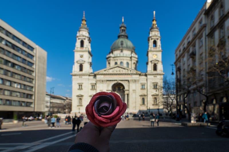 Blommaglass Budapest royaltyfria bilder