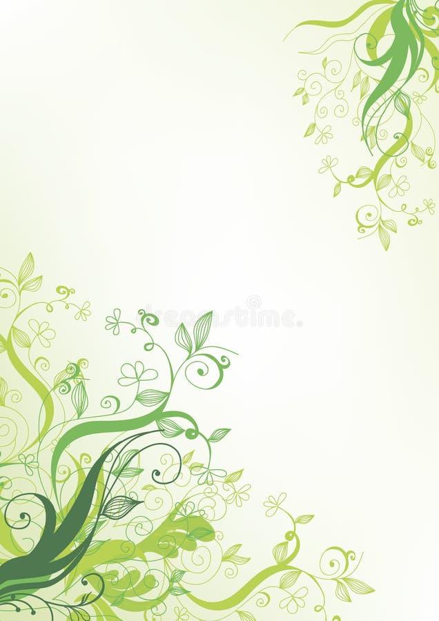 blommagreen stock illustrationer