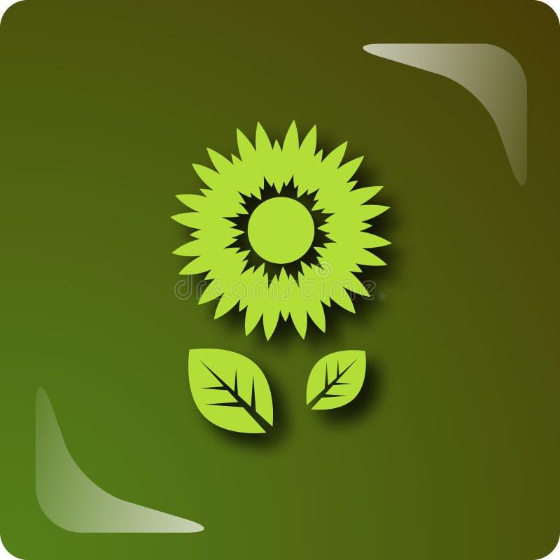 blommagreen vektor illustrationer