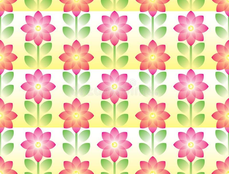 blommagreen l?ter vara den rosa seamless tegelplattan royaltyfria foton