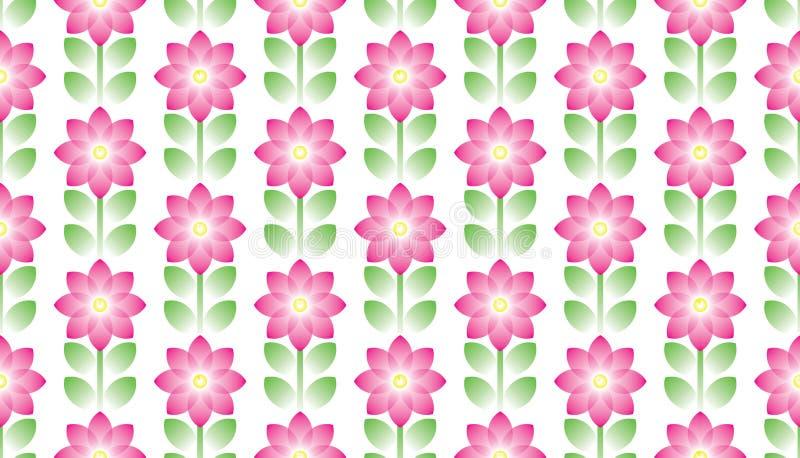 blommagreen l?ter vara den rosa seamless tegelplattan arkivfoto