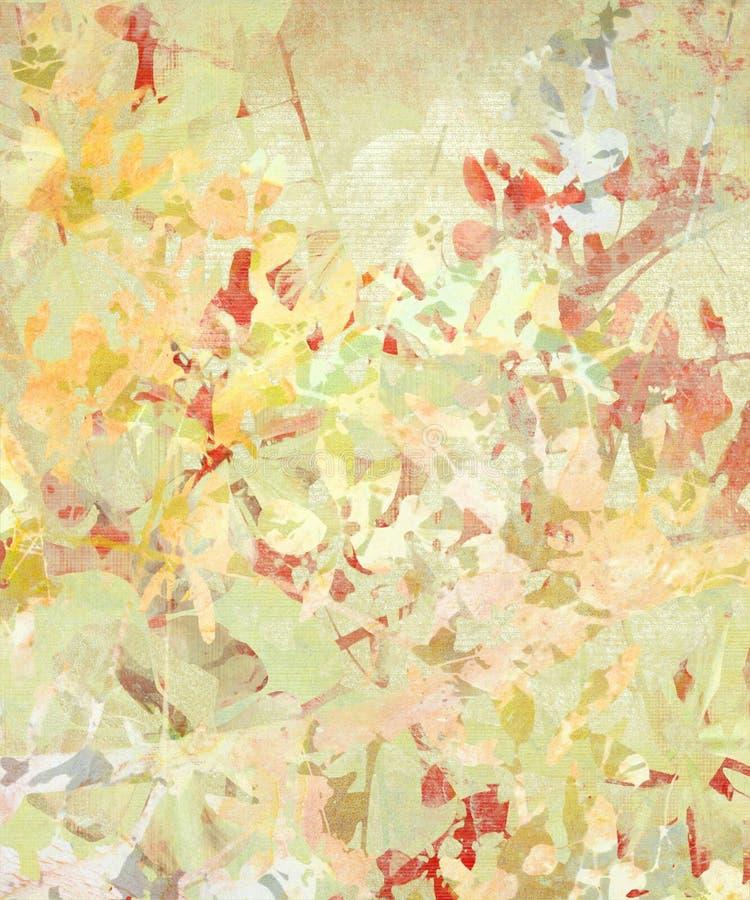 blommagrungeimpressionist royaltyfri illustrationer