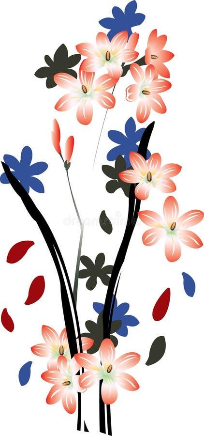 blommaillustration stock illustrationer