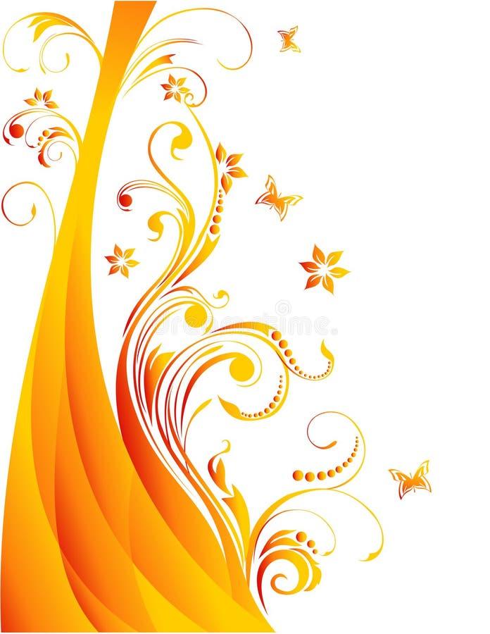 blommaillustrationvektor stock illustrationer