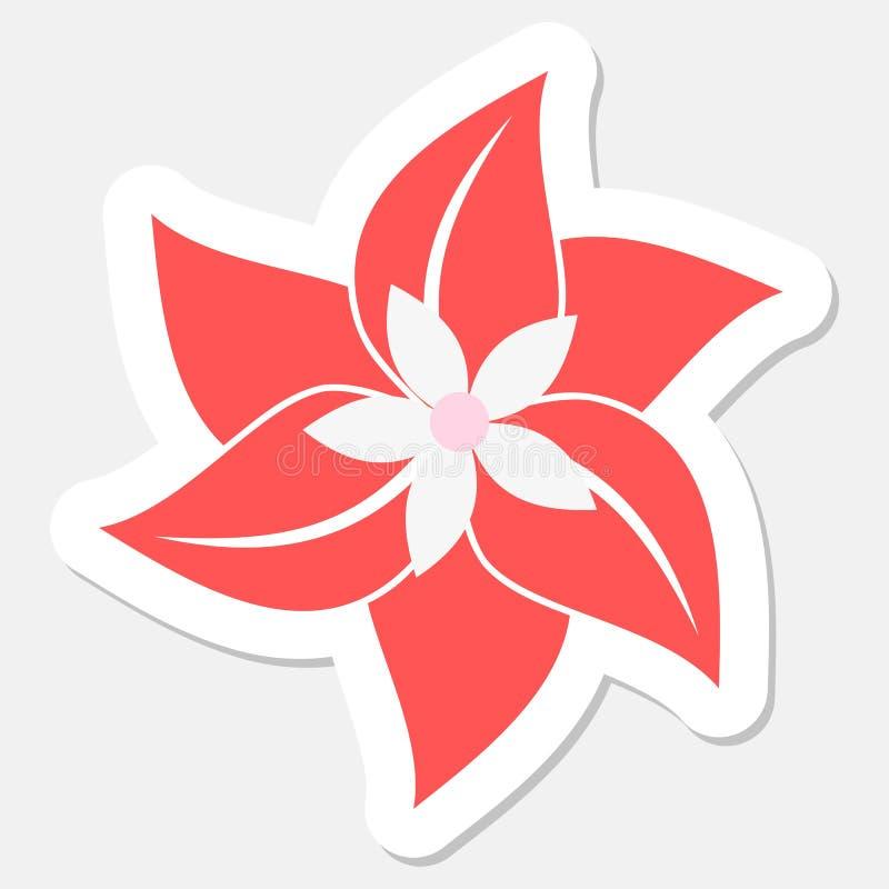 Blommaklistermärke royaltyfri illustrationer