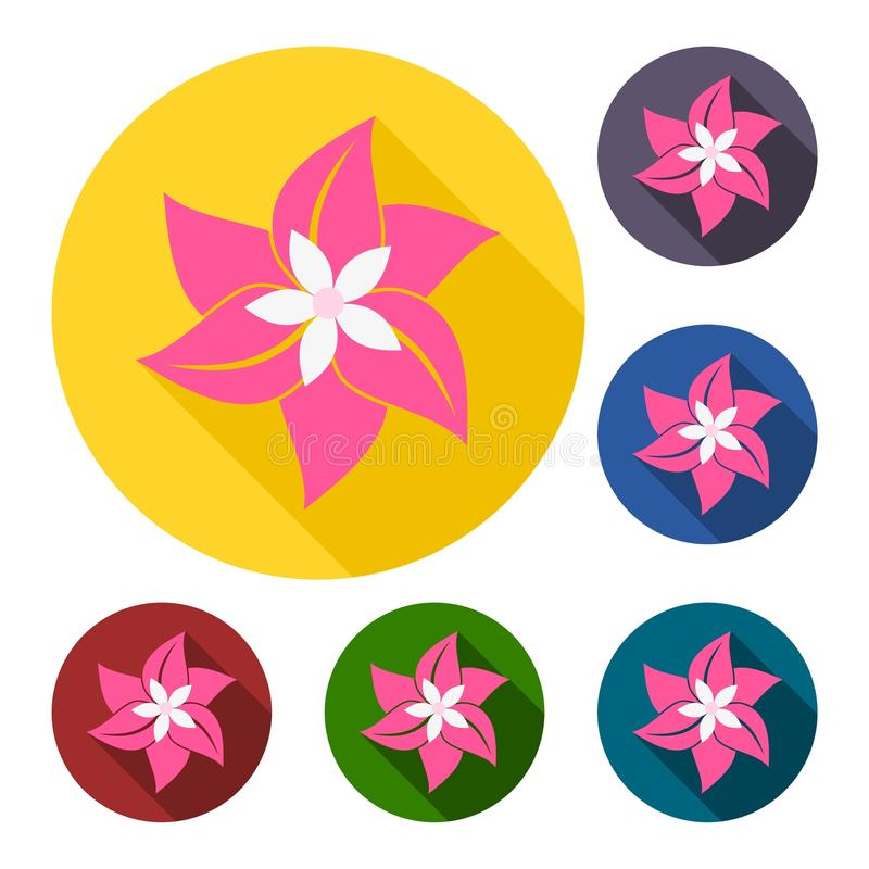 Blommaklistermärkeuppsättning royaltyfri illustrationer