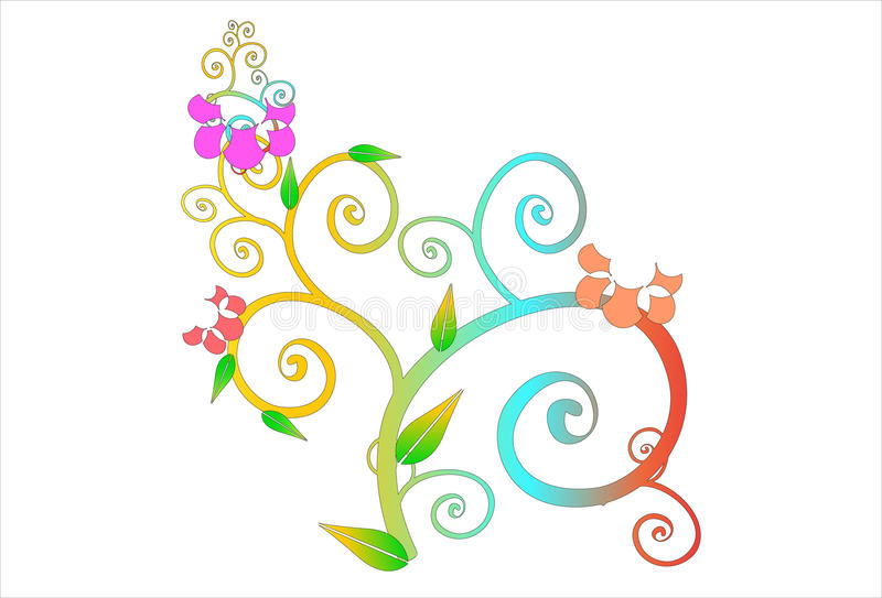 Blommakonstlinje vektor illustrationer