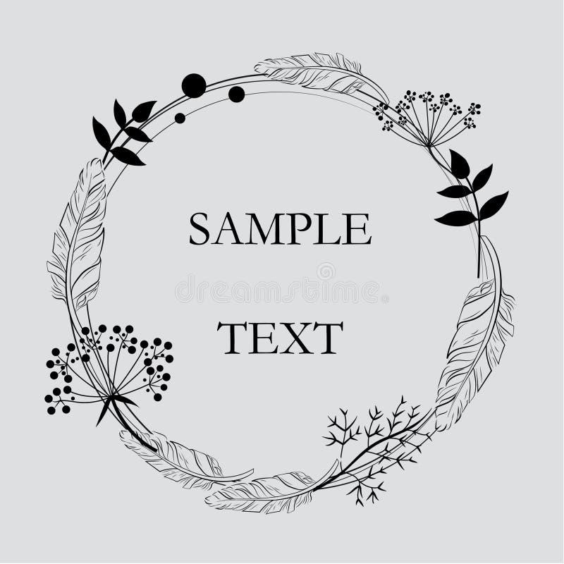Blommakortillustration royaltyfri foto