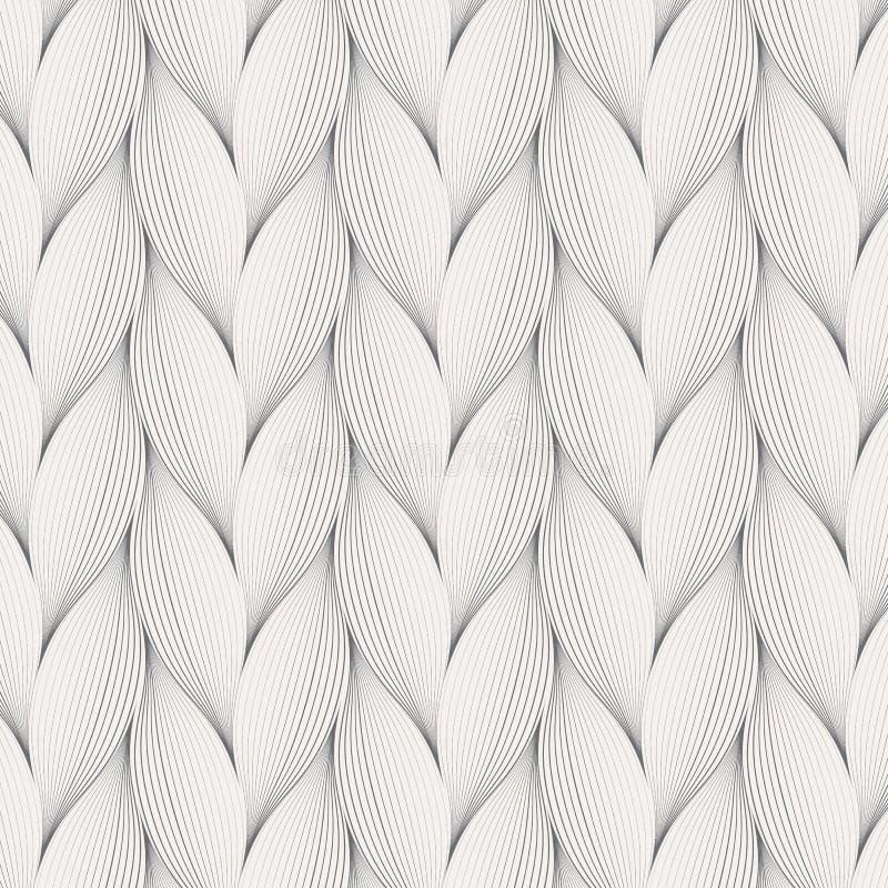 Blommakronblad eller för modellvektor för sidor geometrisk bakgrund Upprepa tegelplattatextur av denna linje på risform, enkel fä vektor illustrationer