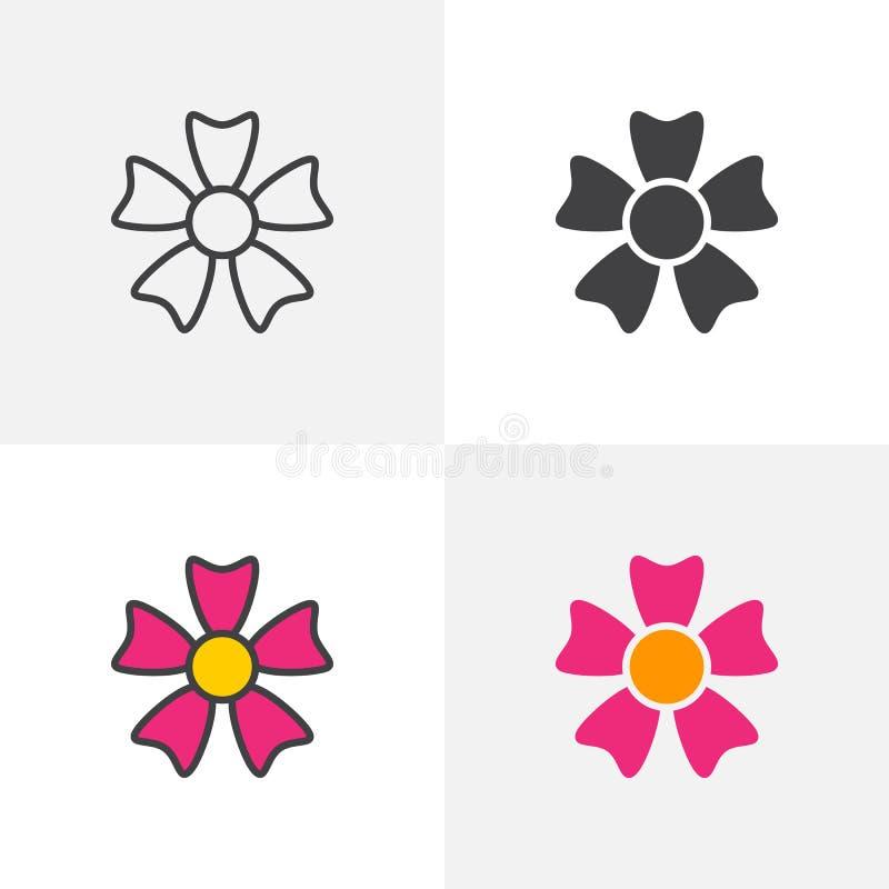 Blommakronbladsymbol stock illustrationer