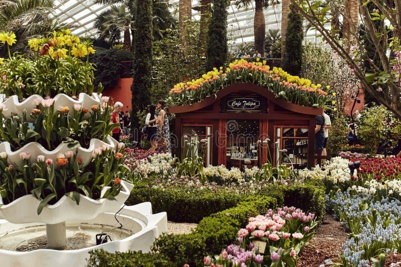 Blommakupol på trädgårdarna vid fjärden royaltyfria foton