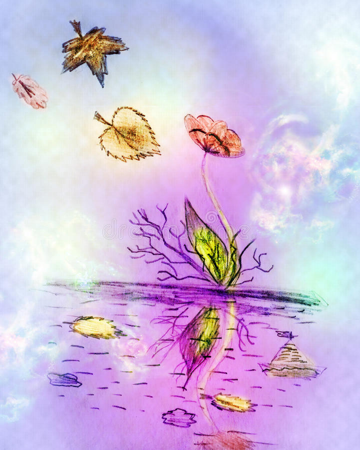 blommakust royaltyfri illustrationer