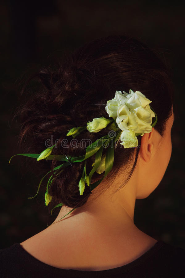 Blommalady royaltyfria foton