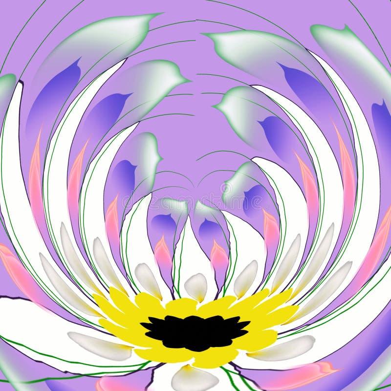 blommalila royaltyfri illustrationer
